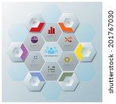 modern hexagon business... | Shutterstock .eps vector #201767030