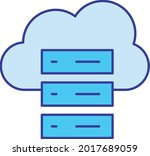 cloud hosting vector icon that... | Shutterstock .eps vector #2017689059