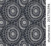 ethnic vector ikat floral tile. ... | Shutterstock .eps vector #2017701596