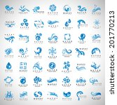 water and drop icons set  ... | Shutterstock .eps vector #201770213