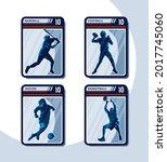 set of four sport card.... | Shutterstock .eps vector #2017745060