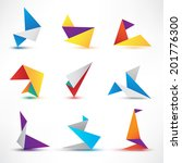 set of abstract colorful vector ... | Shutterstock .eps vector #201776300