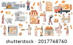 bakery production stages and... | Shutterstock .eps vector #2017768760