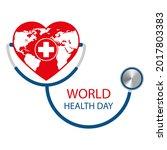 illustration of world health... | Shutterstock . vector #2017803383