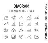 premium pack of diagram line...