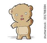 cartoon unhappy teddy bear   Shutterstock .eps vector #201788384