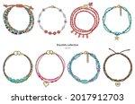 jewelry set  bright bracelets...   Shutterstock .eps vector #2017912703
