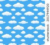 vector seamless pattern  clouds ... | Shutterstock .eps vector #2017944920