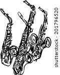 saxophone | Shutterstock .eps vector #201796520