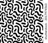 black paint brush strokes...   Shutterstock .eps vector #2017974563