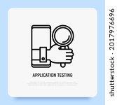 mobile app testing thin line...
