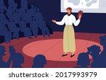 confident speaker with... | Shutterstock .eps vector #2017993979