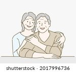 family concept  husband and... | Shutterstock .eps vector #2017996736