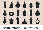 ancient pottery set. black... | Shutterstock .eps vector #2017998353