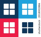 blocks blue and red four color...
