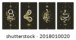magical snakes tarot cards.... | Shutterstock . vector #2018010020