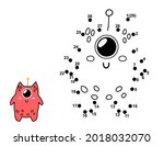 connect the dots and draw a... | Shutterstock .eps vector #2018032070