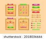game ui wooden board pop up...