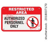 restricted area  authorized...   Shutterstock .eps vector #2018037170
