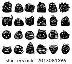 emotional abstract avatars.... | Shutterstock .eps vector #2018081396