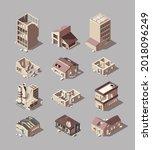 destroyed buildings. damaged... | Shutterstock .eps vector #2018096249