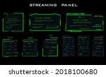set of modern dialog hud...   Shutterstock .eps vector #2018100680