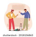 family quarrel and fighting....   Shutterstock .eps vector #2018106863