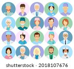 doctors and nurses profile...   Shutterstock .eps vector #2018107676