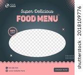 delicious food menu social... | Shutterstock .eps vector #2018109776