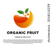 abstract organic fruit logo....   Shutterstock .eps vector #2018110259