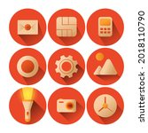 set of vector icons for...