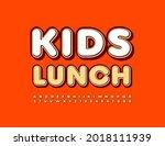 vector healthy concept kids...   Shutterstock .eps vector #2018111939