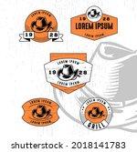 set of vintage badge logo icon...   Shutterstock .eps vector #2018141783
