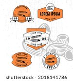 set of vintage badge logo icon...   Shutterstock .eps vector #2018141786