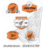 set of vintage badge logo icon...   Shutterstock .eps vector #2018141789