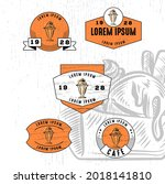 set of vintage badge logo icon...   Shutterstock .eps vector #2018141810