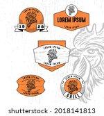 set of vintage badge logo icon...   Shutterstock .eps vector #2018141813