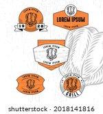 set of vintage badge logo icon...   Shutterstock .eps vector #2018141816