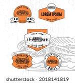 set of vintage badge logo icon...   Shutterstock .eps vector #2018141819