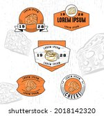 set of vintage badge logo icon...   Shutterstock .eps vector #2018142320