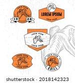 set of vintage badge logo icon...   Shutterstock .eps vector #2018142323