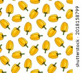 seamless pattern with yellow...   Shutterstock .eps vector #2018158799