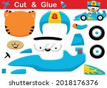 cat wearing racer helmet riding ... | Shutterstock .eps vector #2018176376