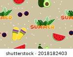 seamless pattern. cartoon...   Shutterstock .eps vector #2018182403