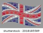 mosaic waving united kingdom... | Shutterstock .eps vector #2018185589