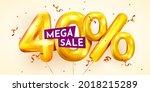 40 percent off. discount... | Shutterstock .eps vector #2018215289