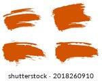 grunge sublimation set. orange... | Shutterstock .eps vector #2018260910