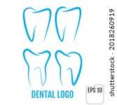 dental clinic logos set. dental ... | Shutterstock .eps vector #2018260919