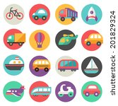 transport icons | Shutterstock .eps vector #201829324