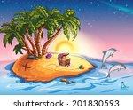 illustration treasure island at ...   Shutterstock .eps vector #201830593